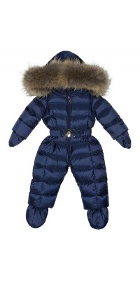 Детский комбинезон для мальчика зимний (Синий)