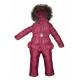 Детский зимний полукомбинезон и куртка для девочки (Горох Брусника)