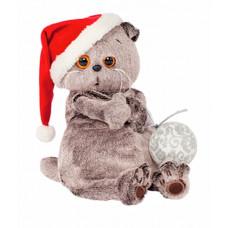 Кот Басик и новогодний колпачок (30 см)
