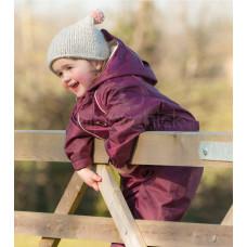 Комбинезон детский непромокаемый с флисом Бургунди