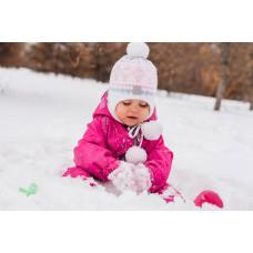 Комбинезон детский непромокаемый с флисом (Розовый)