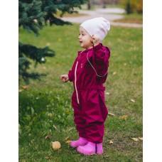 Непромокаемый комбинезон для детей (вишневый)