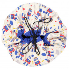 2 в 1: мешок для хранения игрушек и игровой коврик Play&Go. Супергерой.