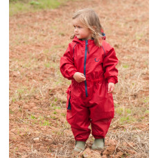 Комбинезон детский непромокаемый с флисом (Красный)