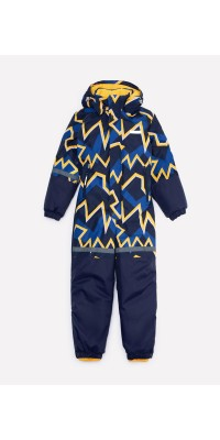 Детский зимний комбинезон Crockid (глубокий синий, молнии)