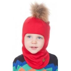 Детский шлем с пумпоном OIVA (Огонь)